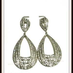 Crystal Statement Teardrop Dangle Drop Earrings